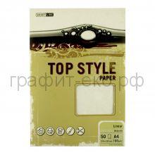 Бумага А4 Smart Line Top Style linear white белая 100г/м 50л 3250