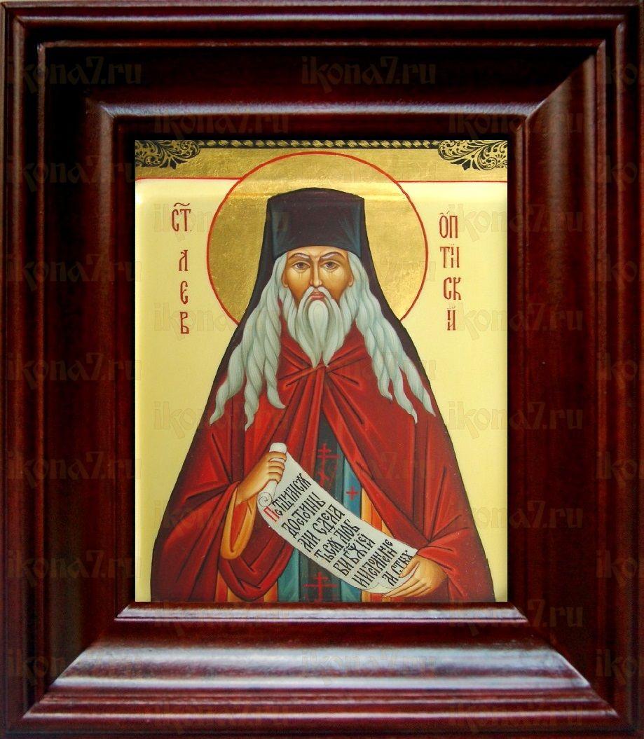 Лев Оптинский (21х24), простой киот