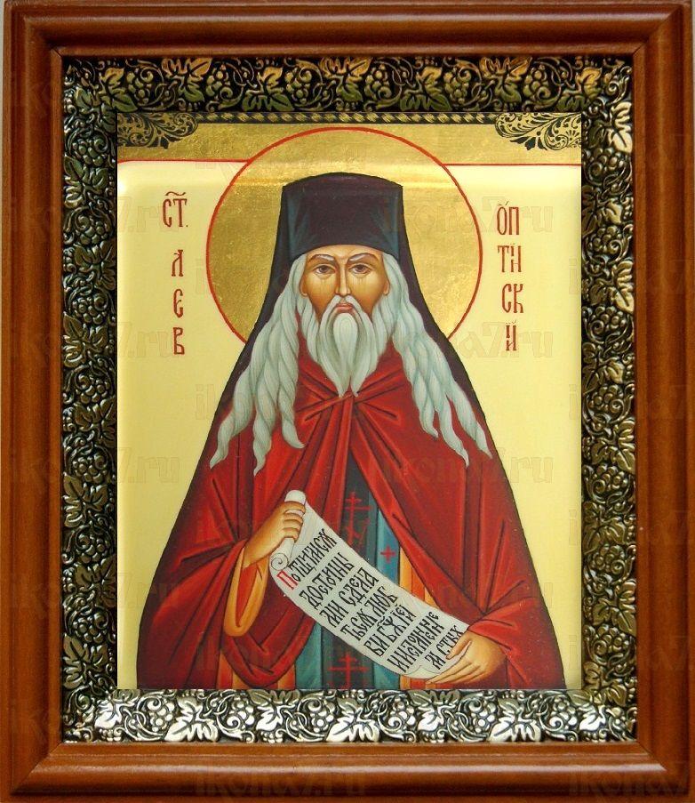 Лев Оптинский (19х22), светлый киот