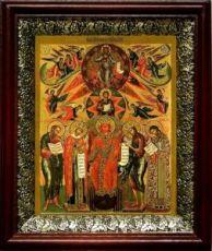 София-Премудрость Божия (Новгородская) (19х22), темный киот