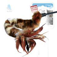 Gigwi Дразнилка меховая на стеке с перьями