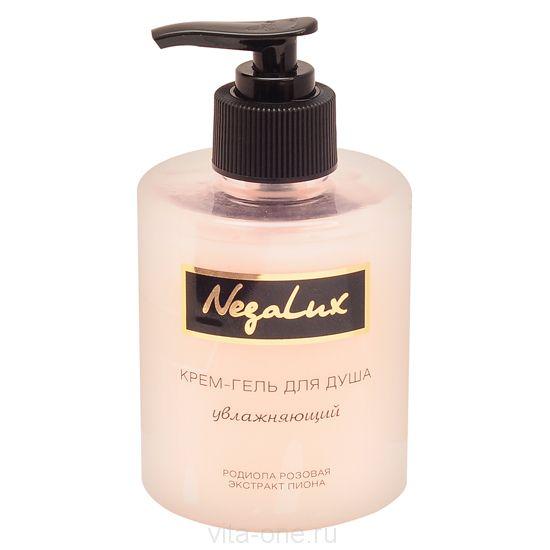 Крем-гель для душа увлажняющий экстрактами родиолы розовой и пиона с Биофеном NegaLux (НегаЛюкс) 300 мл