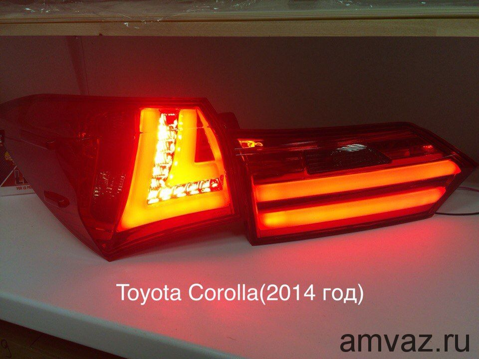 Задние фонари YAB-KLL-0 252 red clear Королла 2014 комплект