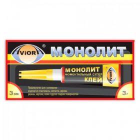 """""""Монолит""""суперклей 3гр./Aviora/12/288/"""