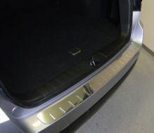 Накладка на задний бампер, AluFrost, с вставками, нерж. сталь, на универсал с 2011-