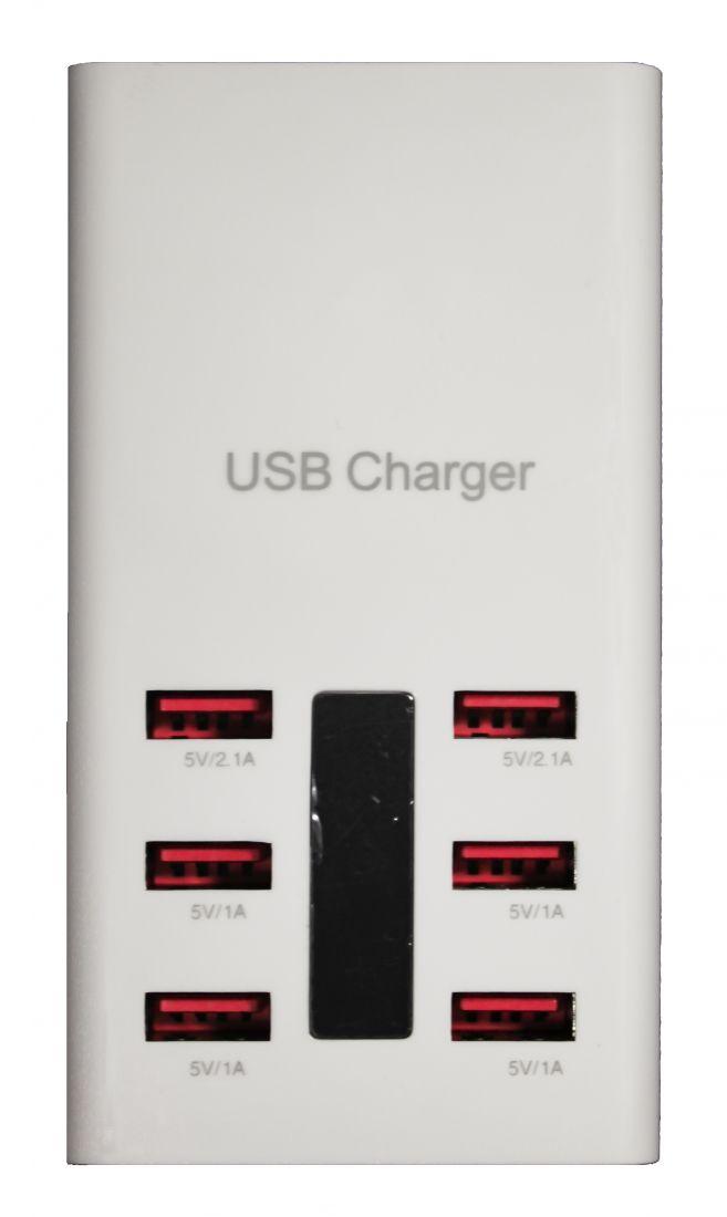 Зарядное устройство на 6 USB портов (5V-6A)