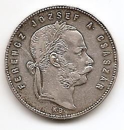 1 форинт(Регулярный выпуск) Венгрия 1869 серебро