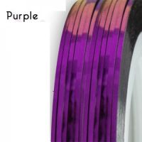 Нить для дизайна ногтей фольга, фиолетовая