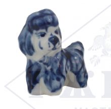 Собака Гжель Балонка маленькая 5,5х3х5см