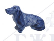 Собака Гжель Такса 6х3,7х9см
