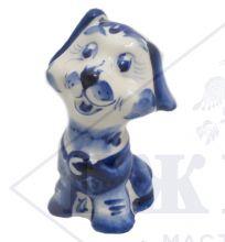 Собака Гжель Щенок Бася 10х6,56см
