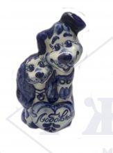 Собака Гжель Влюбленная парочка 12х6,5х5см