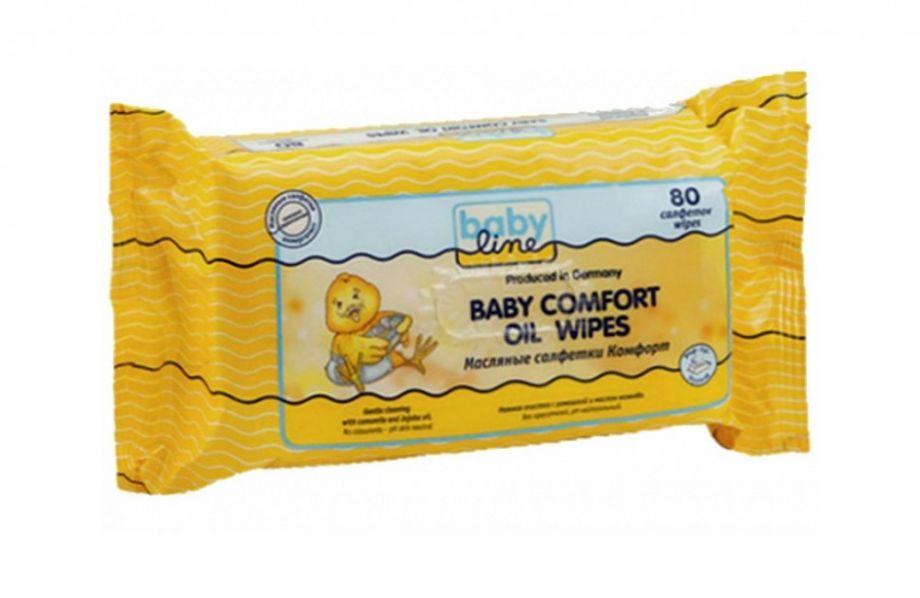 BABYLINE Детские влажные салфетки Комфорт Алое+Ромашка, 80 шт.
