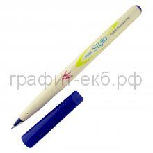 Ручка капиллярная Pentel Stylo пластиковое перо 0,4мм синяя JM11