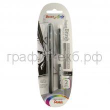 Ручка-кисть Pentel Color Brush для каллиграфии + 2 картриджа черн. ХGFKP/FP10