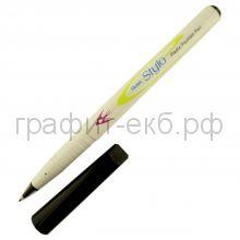 Ручка капиллярная Pentel Stylo пластиковое перо 0,4мм черная JM11