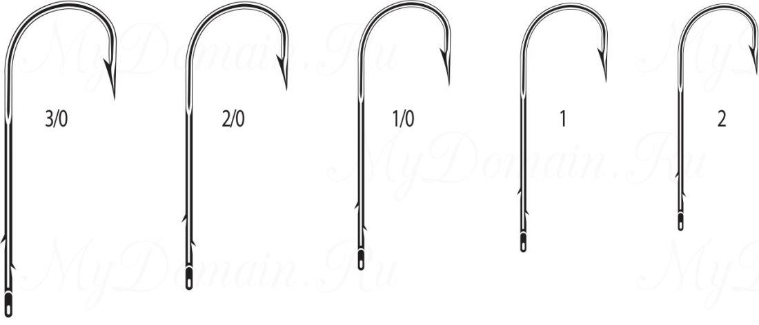 """Крючок Cannelle 1327 N № 2 уп. 100 шт. (никель,кованный,поддев """"абердин"""",две бородки на длинном цевье)"""