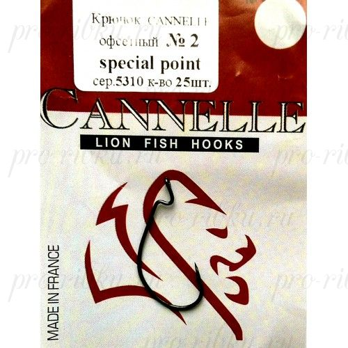 Крючок офсет Cannelle (5310 К) № 1/0 уп. 10 шт. (ванадий,техасская система,кованный,сверх-легкий)