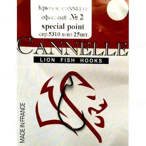 Крючок офсетный Cannelle 5310 К № 3/0 уп. 100 шт. (ванадий,техасская система,кованный,сверх-легкий)