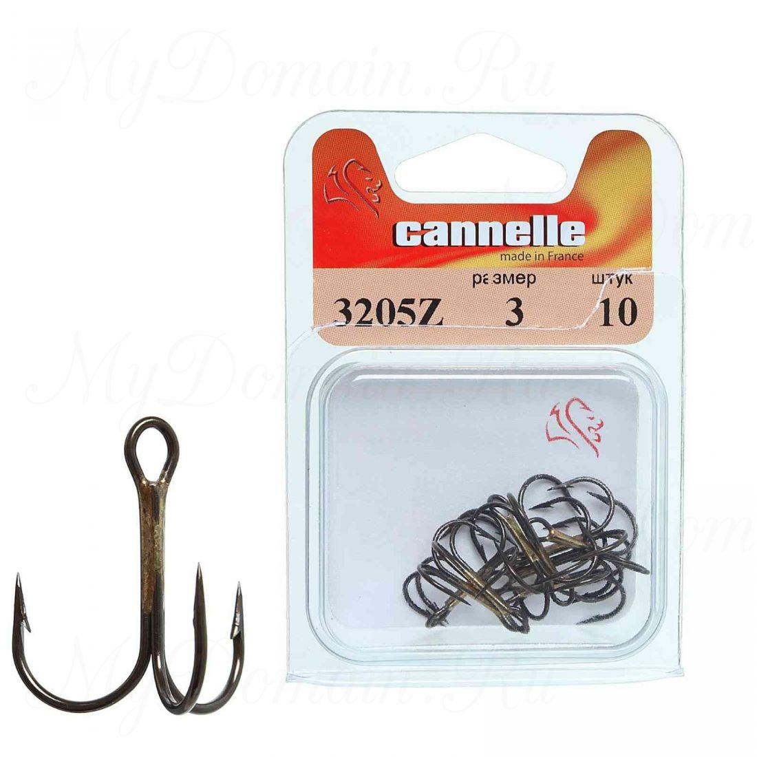 Тройник Cannelle 3205 N № 10 уп. 10 шт. (никель,круглый поддев,стандартный тройник,средняя проволка)