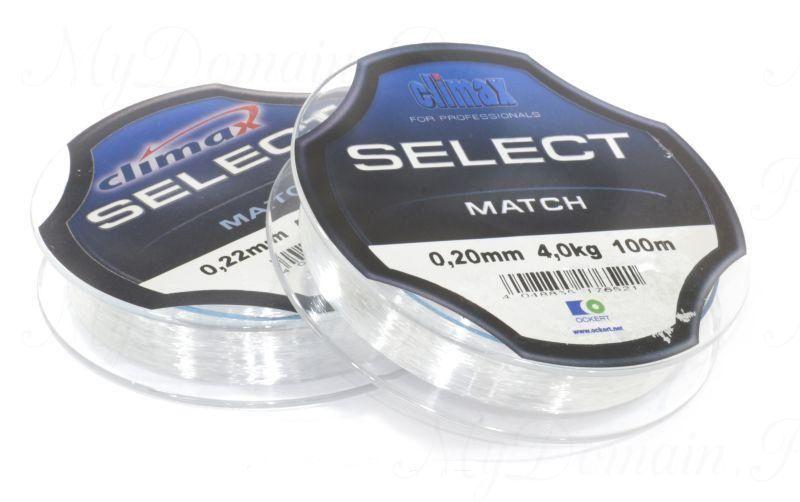 Леска Сlimax Select Match (зеленая) 100 м 0,16 мм 2,7 кг (для поплавочной снасти)