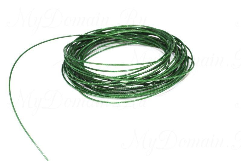 Поводочный материал Climax Toothy Critter (зеленый) 0,30мм 4,5 кг (стальной с полимерн.покрытием,вяжется и спаивается)