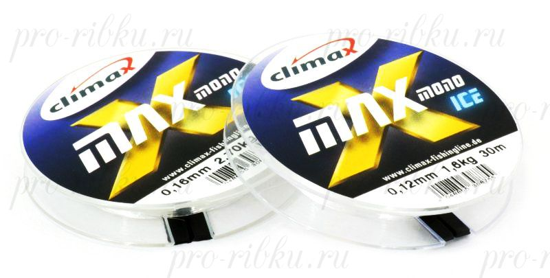 Леска Climax X-Max Mono Ice 0,16 мм 50 м 2,70 кг уп. 10 шт. (прозрачная)