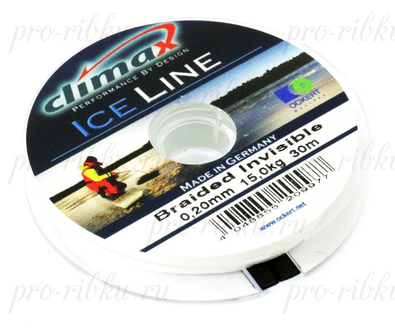 Плетеная леска Climax Ice Invisible 0.17 мм 30 м 10,4 кг. (невидимая)