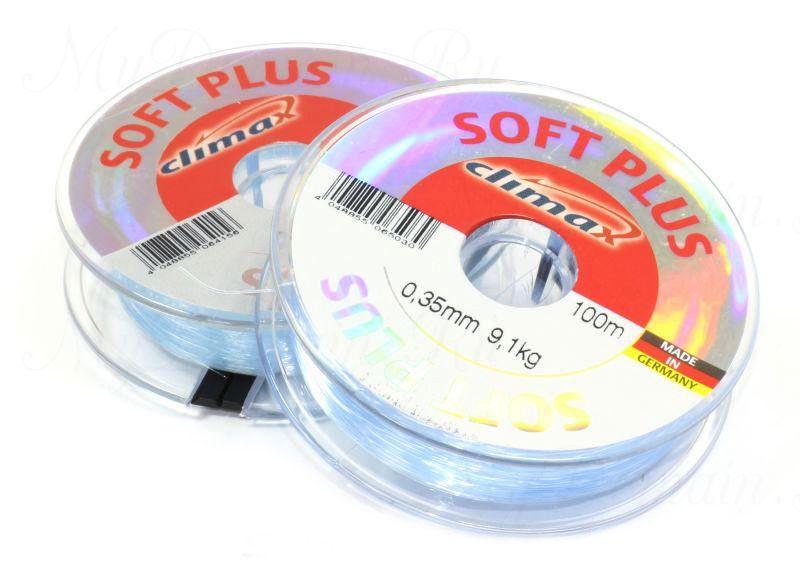 Леска Climax Soft Plus (голубая) 100 м 0,30 мм 7,2 кг уп. 10 шт.