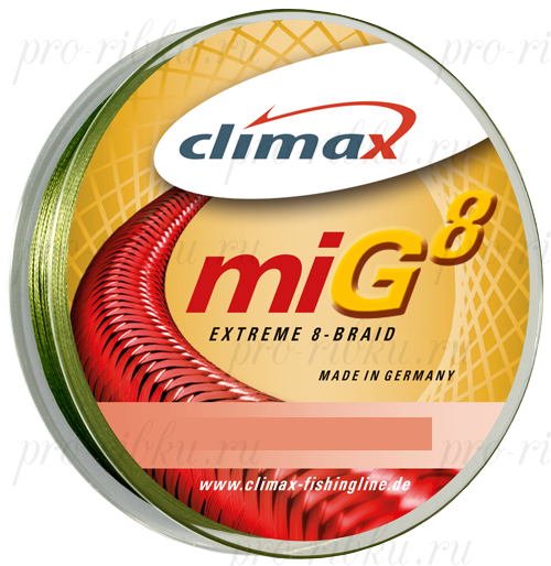 Плетёный шнур Climax Mig 8 Extreme Braid 135m 0,12мм 9.5кг (зеленый)