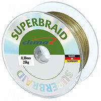 Плетёный шнур Climax Superbraid (серый) 100 м 0,35 мм 31,0 кг (плавающий)