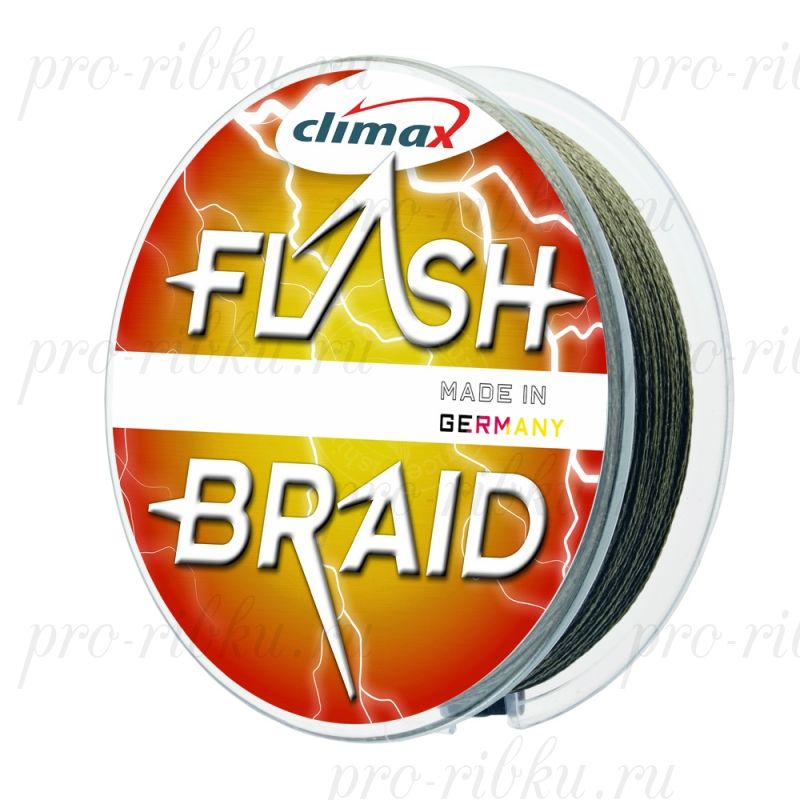 Плетёный шнур Climax FLASH BRAID 0,20 мм 14,5 кг 100 м цвет: серый (плавающий)