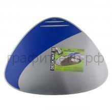 Коврик 69х51 треугольный серебр/синий Durable 7208-23