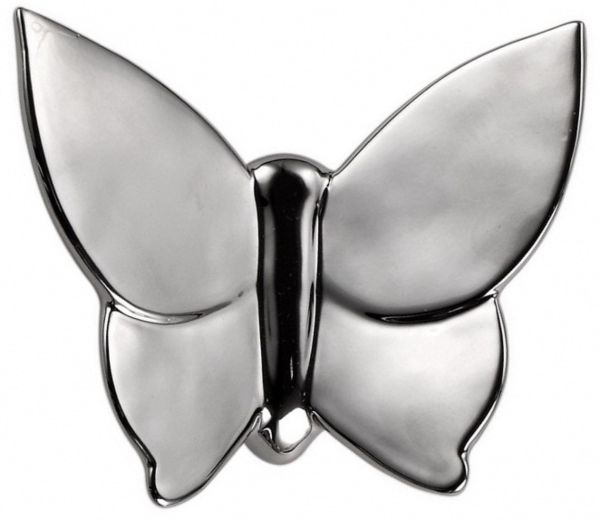 Декоративная бабочка Butterly 12*5*14 (серебристая)