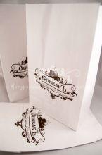 Крафт пакет белый с логотипом, 15 г