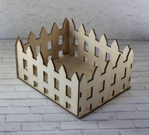 """`Корзинка """"Забор"""" , 18х14,5х9 см, фанера 3 мм,"""