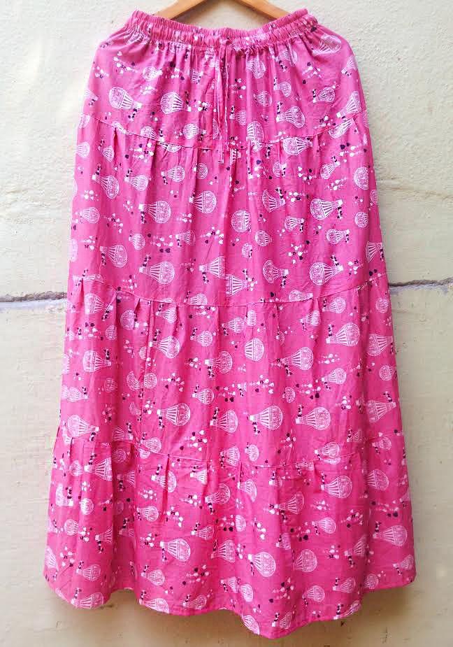 Длинная розовая юбка Воздушные Шары (отправка из Индии)