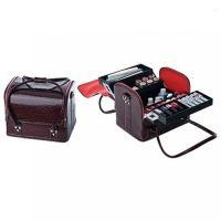 Сумка-чемодан мастера Crocodille бордовая, 32х28х25 (см)