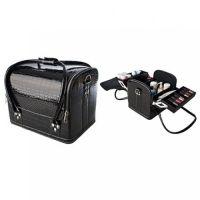 Сумка-чемодан мастера Crocodille чёрная, 32х28х25 (см)