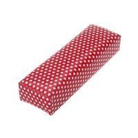 Подставка для рук мягкая красная в белый горох, 29х6х10 (см)