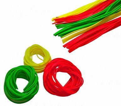 """Кембрик """"Три Кита"""" d=1,5-2,5 флуоресцентный зелёный (20шт*10см)"""