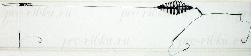Донная оснастка, спираль, 35г, кр. №4