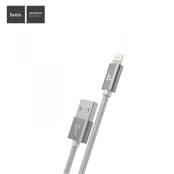 Data кабель hoco X2 Lightning для Apple iPhone (серый)