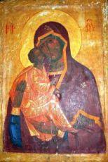 Акафистная Хиландарская икона БМ (копия старинной)