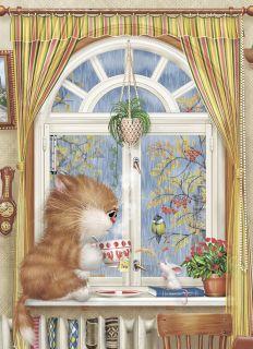 Почтовая открытка Птичку жалко