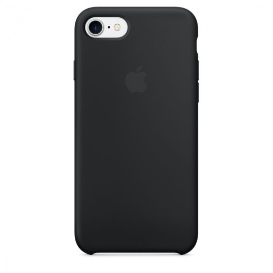 Silicone Case для iPhone 7,iPhone 8 (Чёрный)