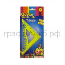 Угольник 45град.12см Keyroad Ocean World Soft touch обрезиненный корпус KR970563-1-1