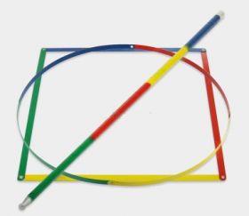 Превращение разноцветного квадрата в трость