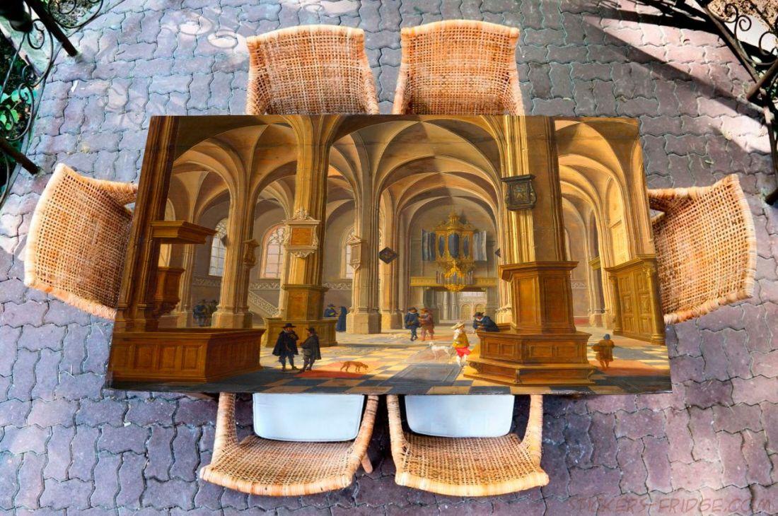 Наклейка на стол - ван Бассен