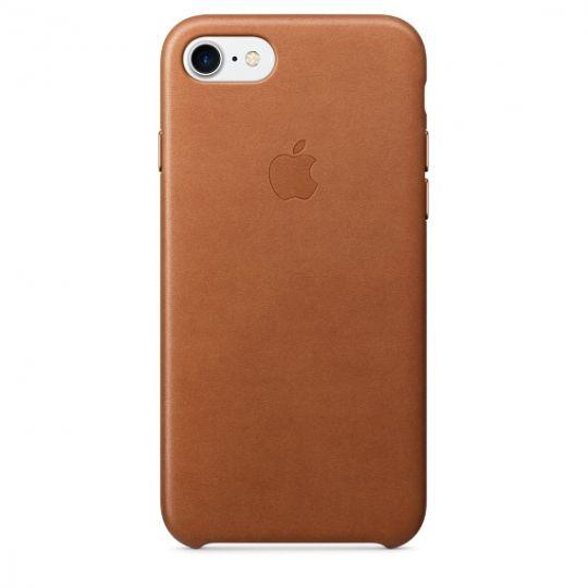 Apple Leather Case для iPhone 7/8 (Золотисто-коричневый)